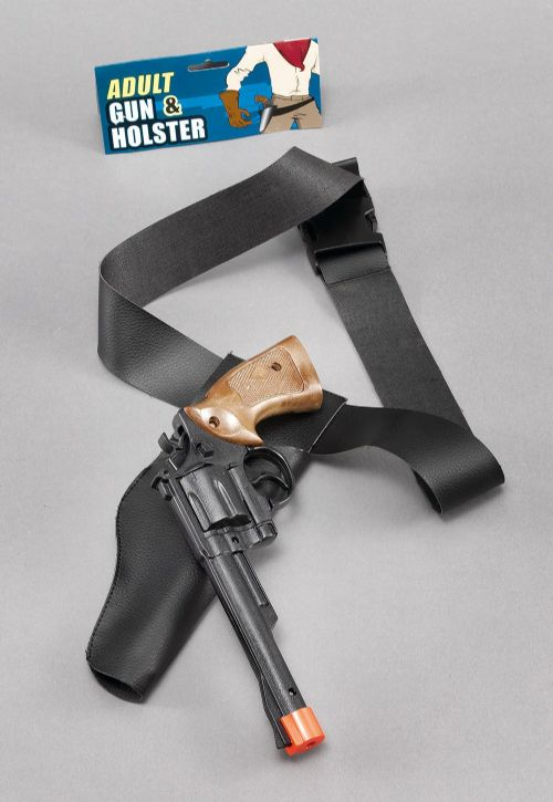 Cowboy Holster Gun Set Adult American Wild West & Indians Novelty Plastic Toy